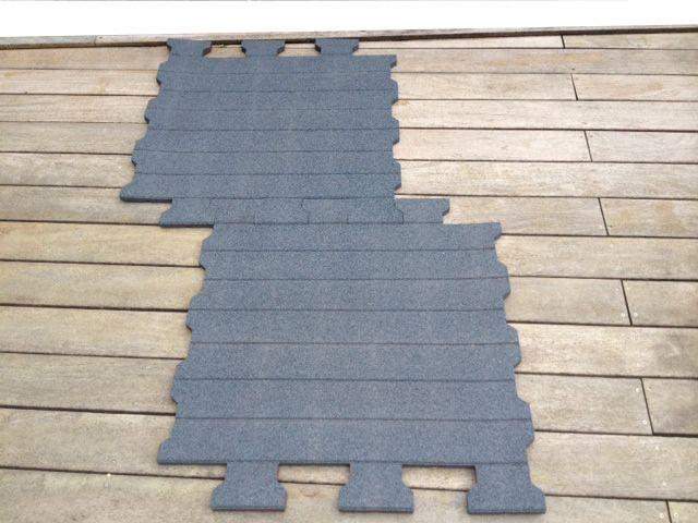dalle caoutchouc waterhorse renforc e lame 20 mm. Black Bedroom Furniture Sets. Home Design Ideas
